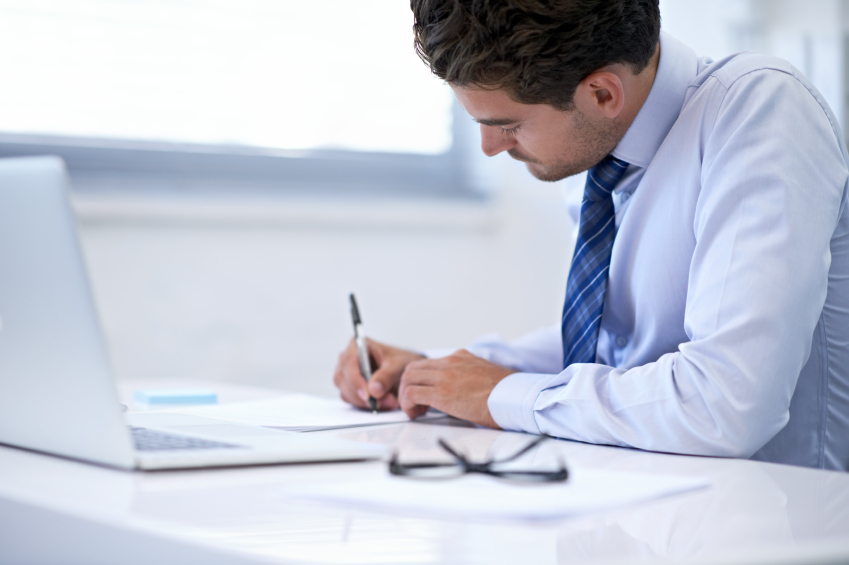 image of solicitor at the desk