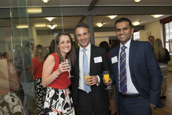 Claudia Hillemand of Bolt Burdon Kemp with Shahram Sharghy of 9 Gough Square Chambers and Geoff Silva of Silva Consulting