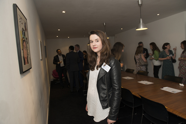 Bronwen Morgan-Jones, one of the artists at the Child Brain Injury Art Exhibition