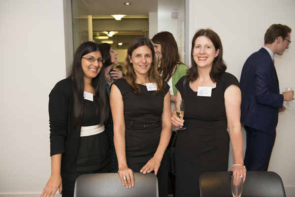 Arti Shah and Samantha Critchley of Field Fisher with Laura Collignon of Thomas More Chambers