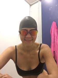 Alex Dabek from Bolt Burdon Kemp after training session for the Swim Serpentine Challenge