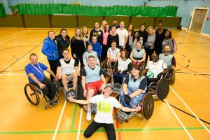 All of the wheelchair rugby and sitting volleyball participants.